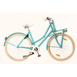 Neuzer Mary 28-as női városi kerékpár, 1s, alu, 19-es, türkiz