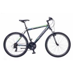 Neuzer Mistral 50 férfi hobbi 26-os MTB kerékpár, 21 seb., alumínium, 19-es vázméret  fekete-szürke-zöld-cián