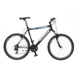 Neuzer Mistral 50 férfi hobbi 26-os MTB kerékpár, 21 seb., alumínium, 15-ös vázméret  fekete-fehér-cián