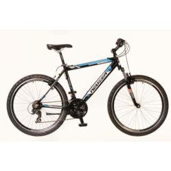 Neuzer Mistral férfi hobbi 26-os MTB kerékpár, alumínium, 21s, 17-es, fekete-fehér-cián