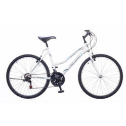 Neuzer Nelson 18 női hobbi 26-os MTB kerékpár, 18 seb., acél, 15-ös vázméret, fehér-szürke-türkiz