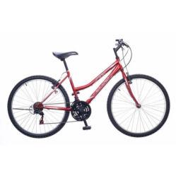 Neuzer Nelson 18 női hobbi 26-os MTB kerékpár, 18 seb., acél, 15-ös vázméret, bordó-fehér-szürke