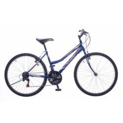 Neuzer Nelson 18 női hobbi 26-os MTB kerékpár, 18 seb., acél, 15-ös vázméret, sötétkék-fehér-mályva