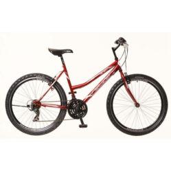 Neuzer Nelson 30 női hobbi MTB kerékpár, acél, 21s, 15-ös, bordó-fehér-szürke