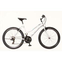 Neuzer Nelson 30 női hobbi MTB kerékpár, acél, 21s, 15-ös, fehér-szürke-türkiz