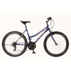Neuzer Nelson 30 női hobbi MTB kerékpár, acél, 21s, 15-ös, sötétkék-fehér-mályva