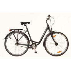 Neuzer Padova 28-as női városi kerékpár, alumínium, agyváltós (3s), agydinamós, 17-es, fekete-türkiz