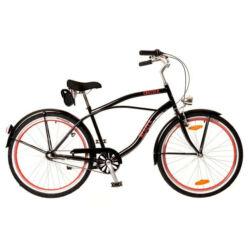 Neuzer Picnic 26-os férfi cruiser kerékpár, acél, agyváltós (3s), fekete-piros