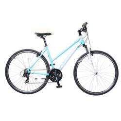 Neuzer X1 női 28-as cross kerékpár, 21s, alumínium, 17-es, világoskék-fehér-rózsaszín