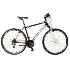 Neuzer X2 férfi 28-as cross kerékpár, 24s, alumínium, 17-es, fekete-fehér-bronz