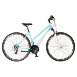 Neuzer X2 női 28-as cross kerékpár, 24s, alumínium, 17-es, fehér-szürke-bronz