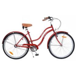 Neuzer California 26-os női cruiser kerékpár, agyváltós (3s), bordó