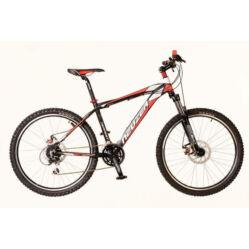 Neuzer Tempest-D férfi 26-os MTB kerékpár, 24s, 17-es,  fekete-piros-fehér