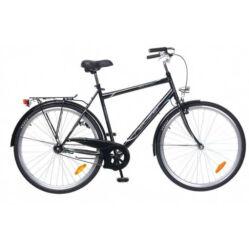 Neuzer Balaton 28-as férfi városi agyváltós kerékpár, acél, 19 col, 3s, fekete