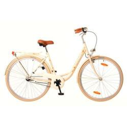 Neuzer Balaton Premium 28-as női városi kerékpár acél, agyváltós (3s), acél, 18-as, krém színű, virágmintás