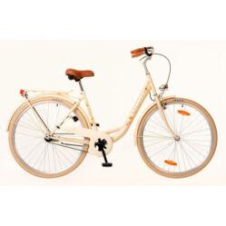 Neuzer Balaton Premium 28-as női városi agyváltós kerékpár acél, 3s, krém, virágmintás
