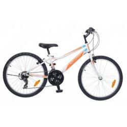 Neuzer Bobby 24-es, hobbi MTB fiú kerékpár, fehér-narancs