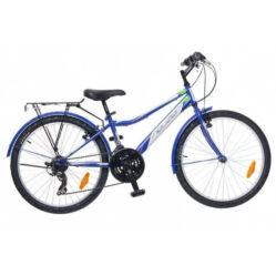 Neuzer Bobby City 24-es, hobbi MTB fiú kerékpár, kék-fehér
