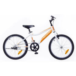 Neuzer Bobby 20-as, 1 sebességes fiú kerékpár, fehér-narancs