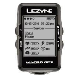 Lezyne Macro GPS HR vezeték nélküli komputer, ANT+, Bluetooth Smart, pulzusmérővel