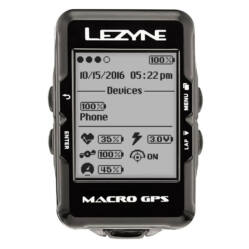 Lezyne Macro GPS HR vezeték nélküli komputer, ANT+, Bluetooth Smart, pulzus- és pedál-csapásszám mérővel