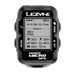 Lezyne Micro GPS vezeték nélküli komputer, ANT+, Bluetooth Smart