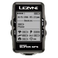 Lezyne Super GPS vezeték nélküli komputer, ANT+, Bluetooth Smart