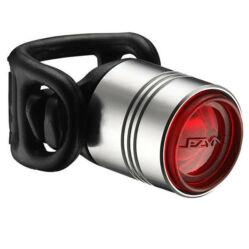 Lezyne Femto Drive hátsó gumipántos lámpa, 7 lumen, elemes, ezüst
