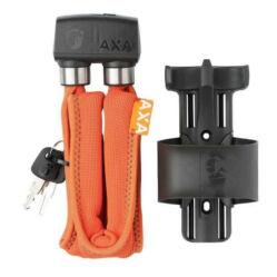 Axa Foldable 600 összehajtható kerékpár lakat, 95 cm x 6 mm, vázkonzollal, narancs