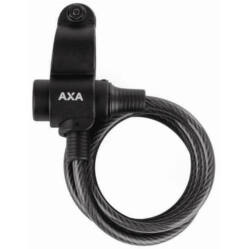 Axa Rigid kulcsos sodronyzár, 180 cm x 8  mm, fekete