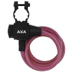 Axa Zipp kulacsos sodronyzár, 120 cm x 8 mm, rózsaszín