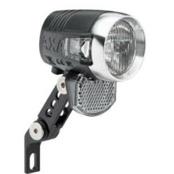 Axa Blueline 50 T-Steady dinamós első lámpa, alkonykapcsolóval, álló- és nappali fény funkcióval