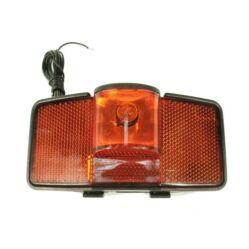 Dinamós hátsó lámpa csomagtartóra, vezetékkel