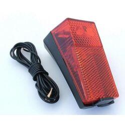 Dinamós hátsó lámpa sárvédőre, vezetékkel