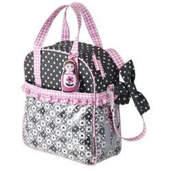 Basil Jasmin Baboushka gyerek táska csomagtartóra, 10L, rózsaszín-szürke