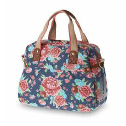 Basil Bloom Carry All táska csomagtartóra, 11L, virágos, indigókék