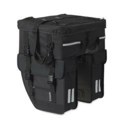 Basil Tour Travel  három részes csomagtartó táska, 49L, fekete