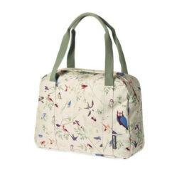 Basil Wanderlust Carry All egy részes táska csomagtartóra, 18L, madár mintás, fehér