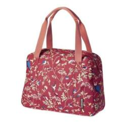 Basil Wanderlust Carry All egy részes táska csomagtartóra, 18L, madár mintás, piros