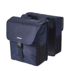 Basil Go Double Bag két részes részes csomagtartó táska, 32L, sötétkék
