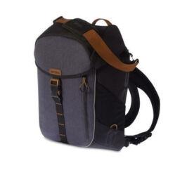 Basil Miles egy részes táska csomagtartóra, oldalra akasztós, hátizsákká alakítható, 14L, sötétkék-fekete