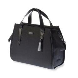 Basil Noir Double Bag két részes táska csomagtartóra, 38L, fekete