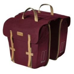Basil Portland két részes táska csomagtartóra, 29L, sötétpiros