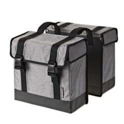 Basil Route két részes táska csomagtartóra, 45L, szürke
