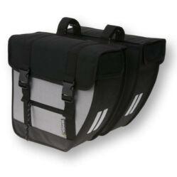 Basil Tour XL két részes táska csomagtartóra, 40L, fekete-ezüst