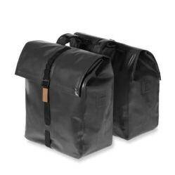 Basil Urban Dry Double Bag két részes táska csomagtartóra, 50L, fekete