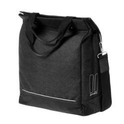 Basil Urban Fold Cross Body Bag egy részes táska csomagtartóra, 20-25L, fekete