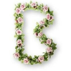 Basil Flower Garland virágfüzér dísz, 130 cm, halvány rózsaszín