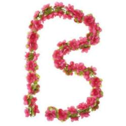Basil Flower Garland virágfüzér dísz, 130 cm, rózsaszín