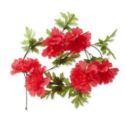 Basil Peony Flower Garland virágos girland dísz kosárra, piros